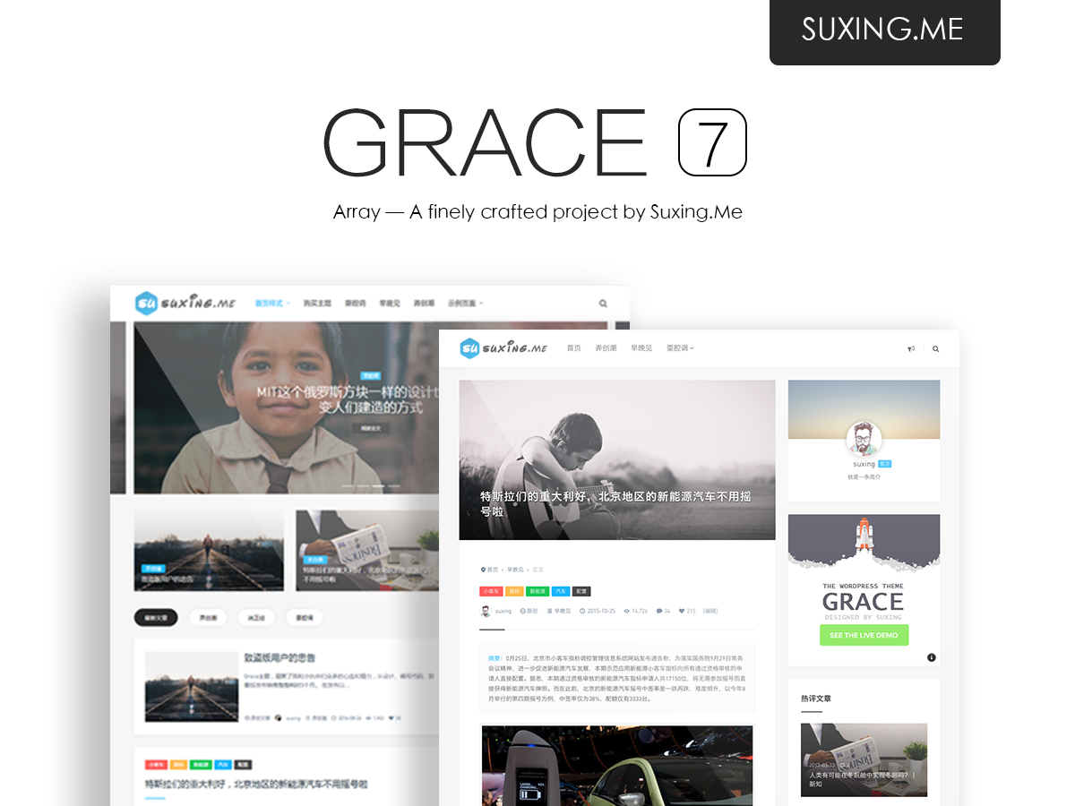 【emlog模板】苏醒Grace7.0主题