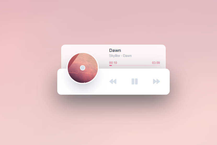 【网站源码】HTML5音乐播放器