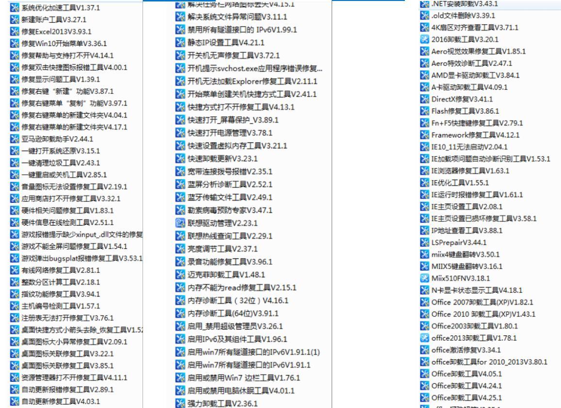 两百个修复电脑故障PC工具