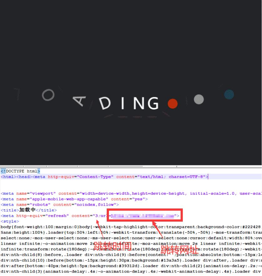 比较美观即将跳转html源码