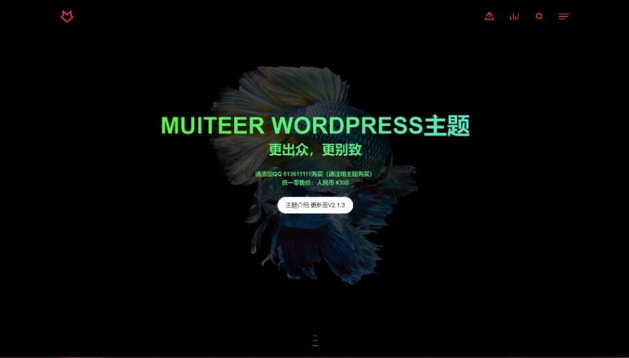 WordPress作品展示主题Muiteer2.3.5开心版